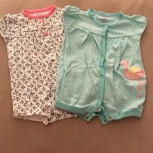 Carters Set of 2 Summer Rompers, 3 months
